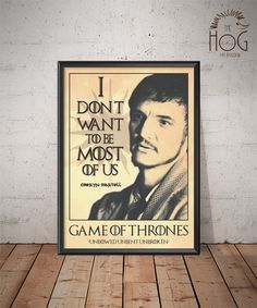 Oberyn Martell - Quote Retro Poster - Game of Thrones Series by HogArtDesign on Etsy