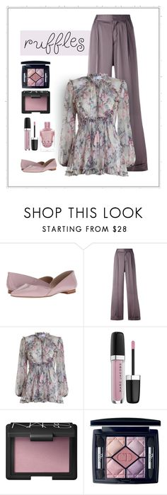 """""""Ruffles and Roses"""" by patricia-dimmick on Polyvore featuring Marc Fisher LTD, A.F. Vandevorst, Zimmermann, Marc Jacobs, NARS Cosmetics, Christian Dior and ruffledtops"""