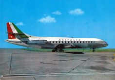 Alitalia SE210 Caravelle postcard