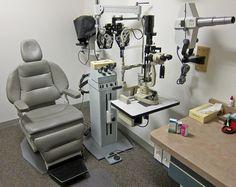 Ophthalmologist's exam room