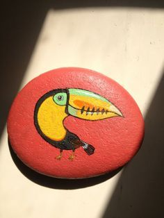 Painted rock / stone - [ toucan ] Am I Cool?