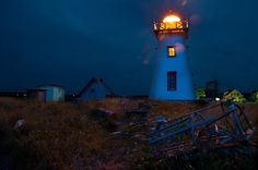 North Rustico lighthouse at night by ryan_maclean Niagara Region, Prince Edward Island, Home And Away, Lighthouses, Photo Contest, Cool Cars, Ships, Around The Worlds, Canada