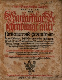 Newer unpartheyischer teutscher Mercurius (Autumn 1627 - Easter 1628) - Gaspar Ens - 1628