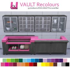VAULT Pro-Level Bar 33 recolours at Unobservantsims via Sims 4 Updates