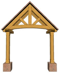 2 POST PORCHES — TIMBER FRAME PORCHES Porch Oak, Porch Timber, House Front Porch, Front Porch Design, Front Deck, Front Entry, Porch Canopy, Canopy Outdoor, Door Canopy