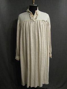 Nightshirt period distressed cream cotton