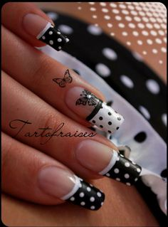 ♥ Nail Art On My Natural Nails... love this but way to long for my clumsy self. I'd poke a eye out. Lol