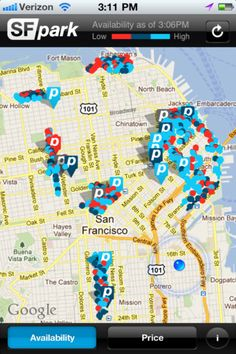 Live Parking Space Data in San Francisco
