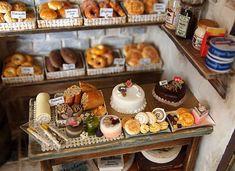 The Bakery -Vintage Country small bread shop-handmade Dollhouse Miniatures. $529.00, via Etsy.