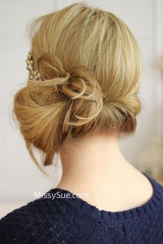"""""""Great Gatsby"""" Tuvk And Cover Hair Tutorial is a variation to the traditional """"tuck"""" that brings some 1920s style!  What could be better than combining a great hairstyle and a great decade? Not much!"""