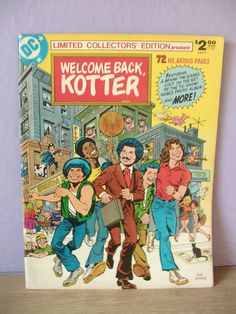 vintage 1970's comic book Welcome Back Kotter by ShoponSherman, $17.00