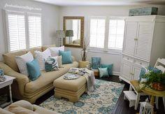 coastal cottage living room | Fox Hollow Cottage