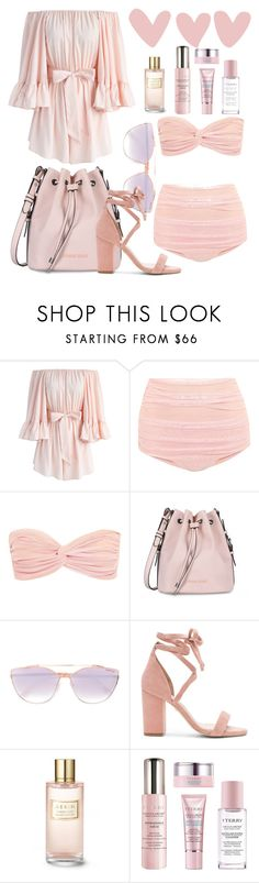 """🌸Pastel Pink Summer🌸"" by sweetglu ❤ liked on Polyvore featuring Chicwish, Norma Kamali, Armani Jeans, Tom Ford, Raye, Estée Lauder and By Terry"