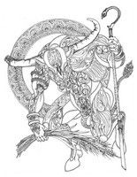 Adult coloring page Taurus
