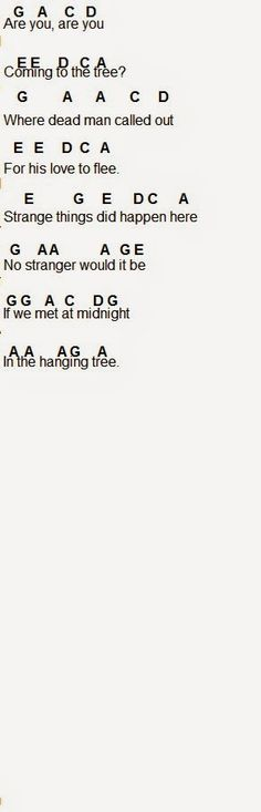 Flute Sheet Music: The Hanging Tree part 4