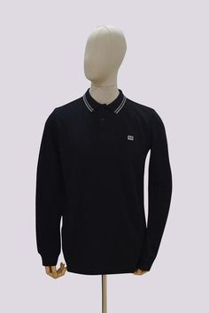 Weekend Offender Rife Long Sleeve Polo Shirt - Black