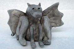 Watch Hunchback of Notre Dame animation movie. Introduce architectural terms for gothic cathedrals. Project: Make Clay GARGOYLES and GROTESQUES Sculpture Lesson Plan: Sculpture Activities Art Lessons For Kids, Art Lessons Elementary, Art For Kids, Clay Art Projects, Ceramics Projects, High School Art Projects, Halloween Arts And Crafts, 8th Grade Art, Sculpture Lessons