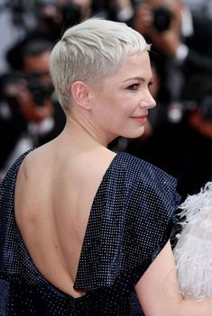 Michelle Williams short hair inspiration | Cannes 2017 Red-Carpet Beauty | British Vogue