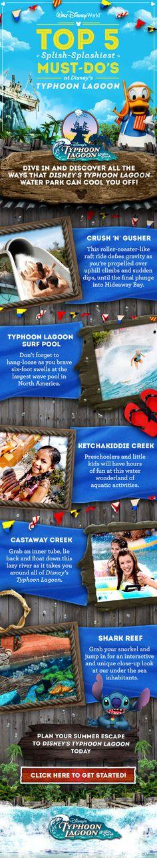 Top 5 Must-Do's at Disney's Typhoon Lagoon. #WaterParks #WaltDisneyWorld #summer