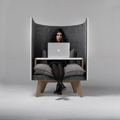 V1 lounge chair :: Design burea  Symmetry within the composition of the photo