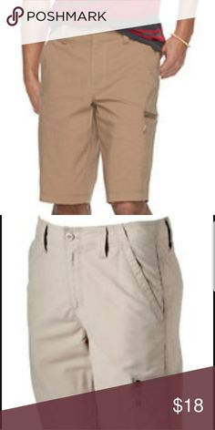"Mens Urban Pipeline Flex Cargo Shorts Size 38 Ultimate Flex Hybrid Short Hits At Knee Zipper Cargo Pocket Tech Pocket  2 Back Pockets 2 Flat Front Pockets  399  Some of Our New Items May Contain a ""New"" Scent/Odor Which Normally Dissipates With Time. All of Our ""Pre-Owned Items Have Been Cleaned & Sanitized With Fragrance Free Products, However, May Contain Scent From Packaging Contents Which Normally Dissipates With Time. Shorts Cargo"