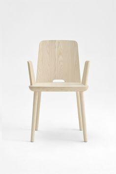 poltrona Tablet in legno faggio colore naturale per interno arredo design
