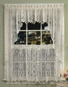 Crochet curtains window decorating