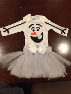 Infant Olaf costume easy diy