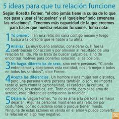 Cinco ideas para que tu relación funciones