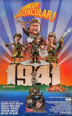Directed by Steven Spielberg. With John Belushi, Dan Aykroyd, Treat Williams, Nancy Allen. Hysterical Californians prepare for a Japanese invasion in the days after Pearl Harbor. Classic Movie Posters, Original Movie Posters, Classic Movies, Funny Movies, Great Movies, Comedy Movies, Awesome Movies, Cult Movies, Watch Movies
