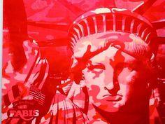 Warhol Statue of Liberty Andy Warhol Works, Andy Warhol Pop Art, Andy Warhol Portraits, Retro Pop, 3d Painting, Arts Ed, Process Art, American Artists, Printmaking