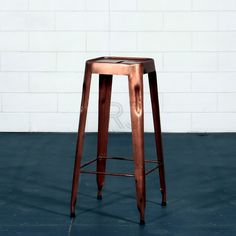Furniture. Extra Tall Backless Bar Stool Made Of Copper. Extra Tall Bar Stools