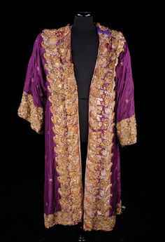 """Royal purple robe with gold bullion trim, was worn by Yul Brynner as """"King Mongkut"""" in The King and I (1956) Costume design: Irene Sharaff"""