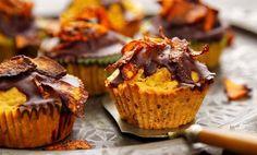 Dýňovo-ořechové muffiny s čokoládovým krémem