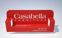 pop-up furniture business card
