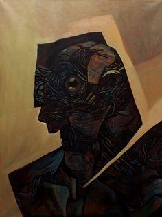 """Kub"", oil on canvas 100x70cm"