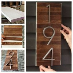 Neat way to do house numbers.