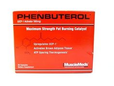 MuscleMeds PHENBUTEROL Fat Burner Weight Loss UCP-1 Activator 30 Capsules Brown Adipose Tissue, Fat Burner, Weight Loss Supplements, Weight Management, Strength, Health, Health Care, Fat Burning, Belly Fat Burner