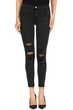 23127 Alana Crop in Demented Black - J BRAND Jeans