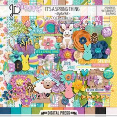 It's a Spring Thing | Digital Scrapbook Kit by Juno Designs and WendyP Designs