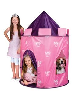 The Discovery Kids Indoor/Outdoor Princess Play Castle will make any girl feel like a real princess in a royal setting. Fun in the yard or home, the Princess Play Castle sets up in minutes to form a large, tall by wide tent. Princess Castle, Pink Princess, Little Princess, Real Princess, Princess Party, Pink Castle, Princess Room, Princess Birthday, Disney Princess