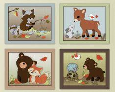 Conjunto de niña bebé jardín tropical cuatro por LittlePigStudios