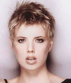 Very Short Spiky Hairstyle For Girls