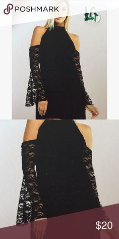 New small dress Lace bell sleeves Dresses