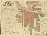 Map of the city of Little Rock and Argenta, Arkansas : compiled from official sources and actual surveys /   Library of Congress CREATIVE COMMONS
