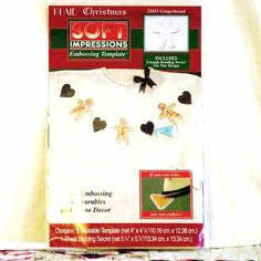 Template Fabric Embossing Balsa Wood Plaid Christmas 21651 Gingerbread 3-oz