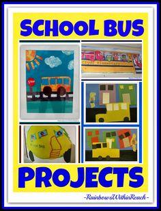 School Bus as Art Project and MORE at RainbowsWithinReach #EYTalking #Kinderchat #TeacherFriends