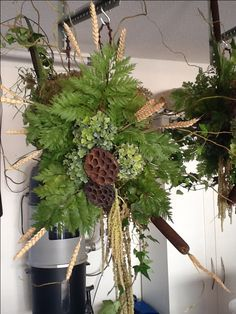 BC Floral Art August 2016 Grapevine Wreath, Grape Vines, Christmas Wreaths, Floral Design, Bee, Holiday Decor, Home Decor, Christmas Garlands, Homemade Home Decor