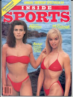 *INSIDE SPORTS (Sports Illustrated) Swimsuit KRISTIAN ALFONSO & JULIE McCULLOUGH