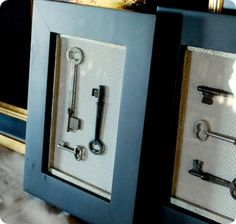 Skeleton Key Wall Art. Simple DIY that gives a very rich look to any wall!